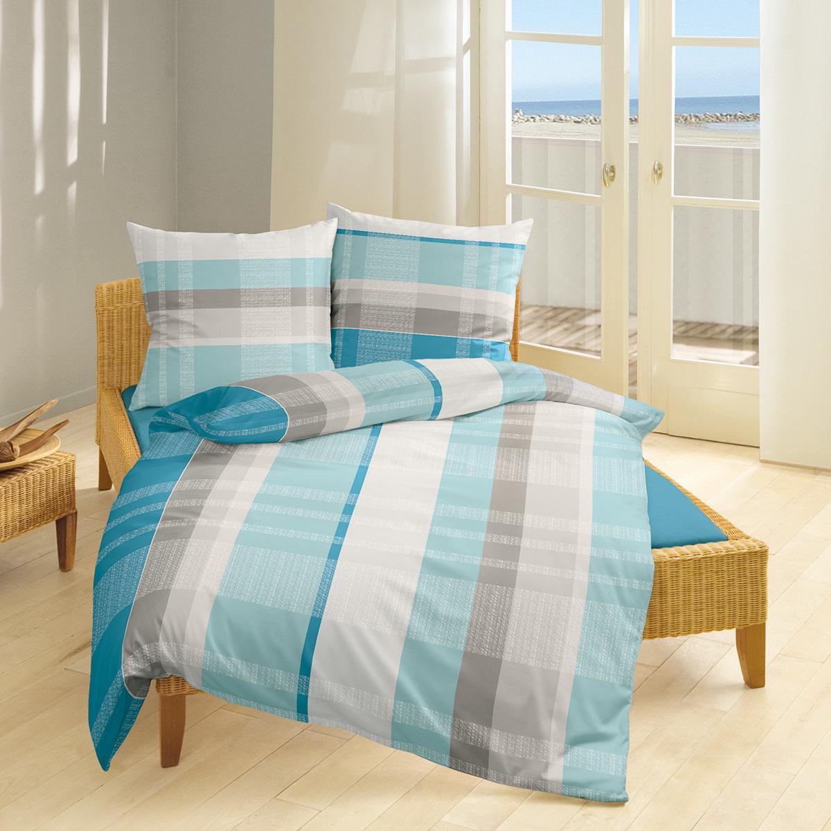 Bierbaum Single Jersey Bettwäsche 3017 Aqua Günstig Online Kaufen