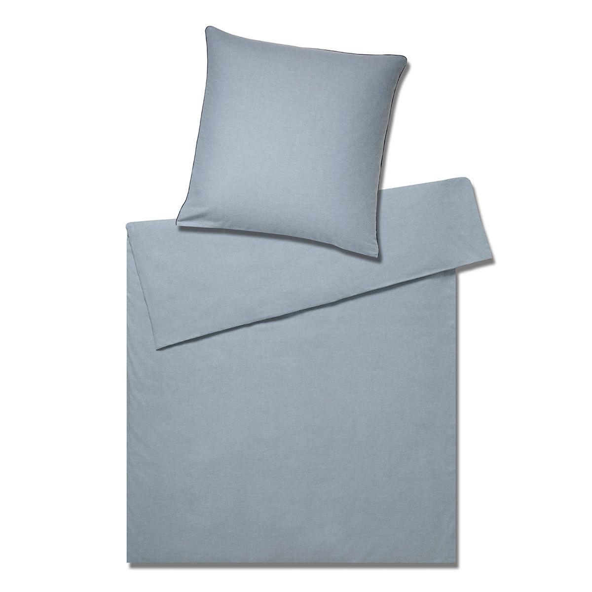 elegante Soft-Flanell Bettwäsche Bond eisblau