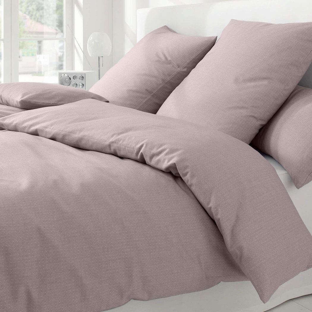 elegante Soft-Flanell Bettwäsche Coventry braun