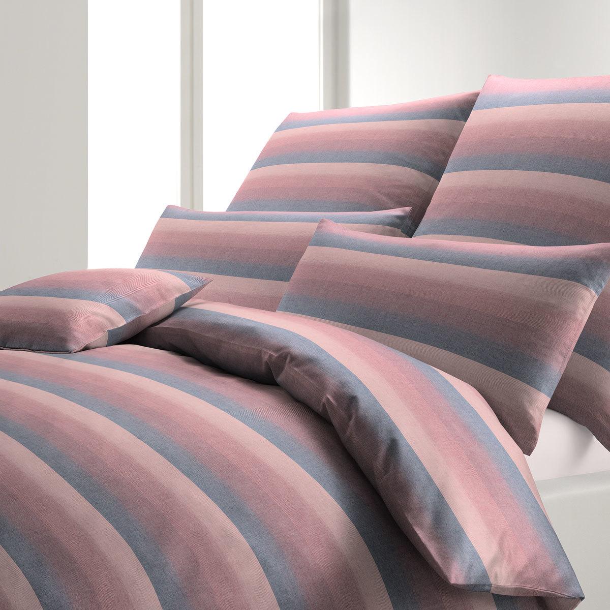 elegante Soft-Flanell Bettwäsche Hadley korall-rot