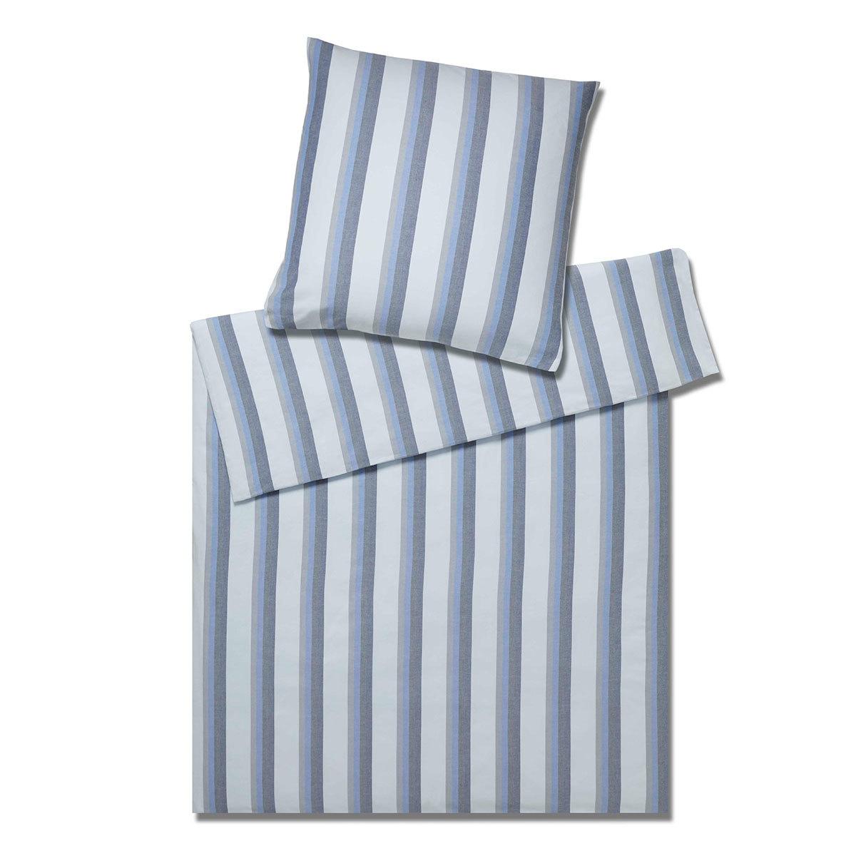 elegante Soft-Flanell Bettwäsche Regent bleu