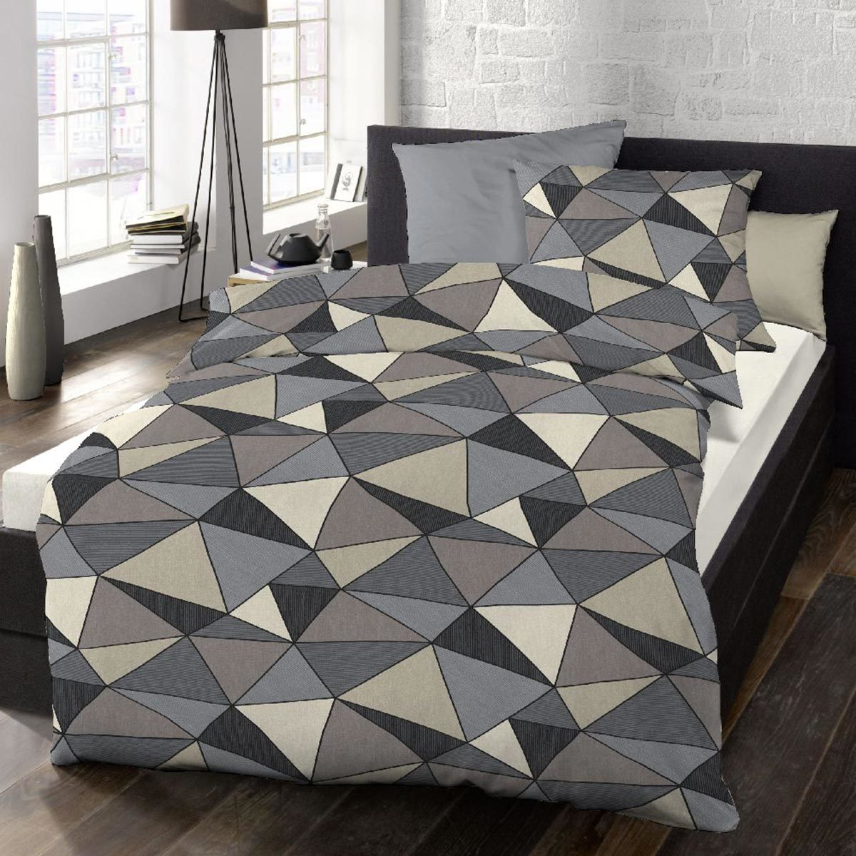 schlafgut soft touch cotton bettw sche chip smoky tiffany. Black Bedroom Furniture Sets. Home Design Ideas