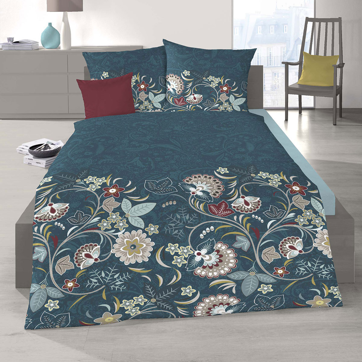 schlafgut soft touch cotton bettw sche tiara amazonas. Black Bedroom Furniture Sets. Home Design Ideas