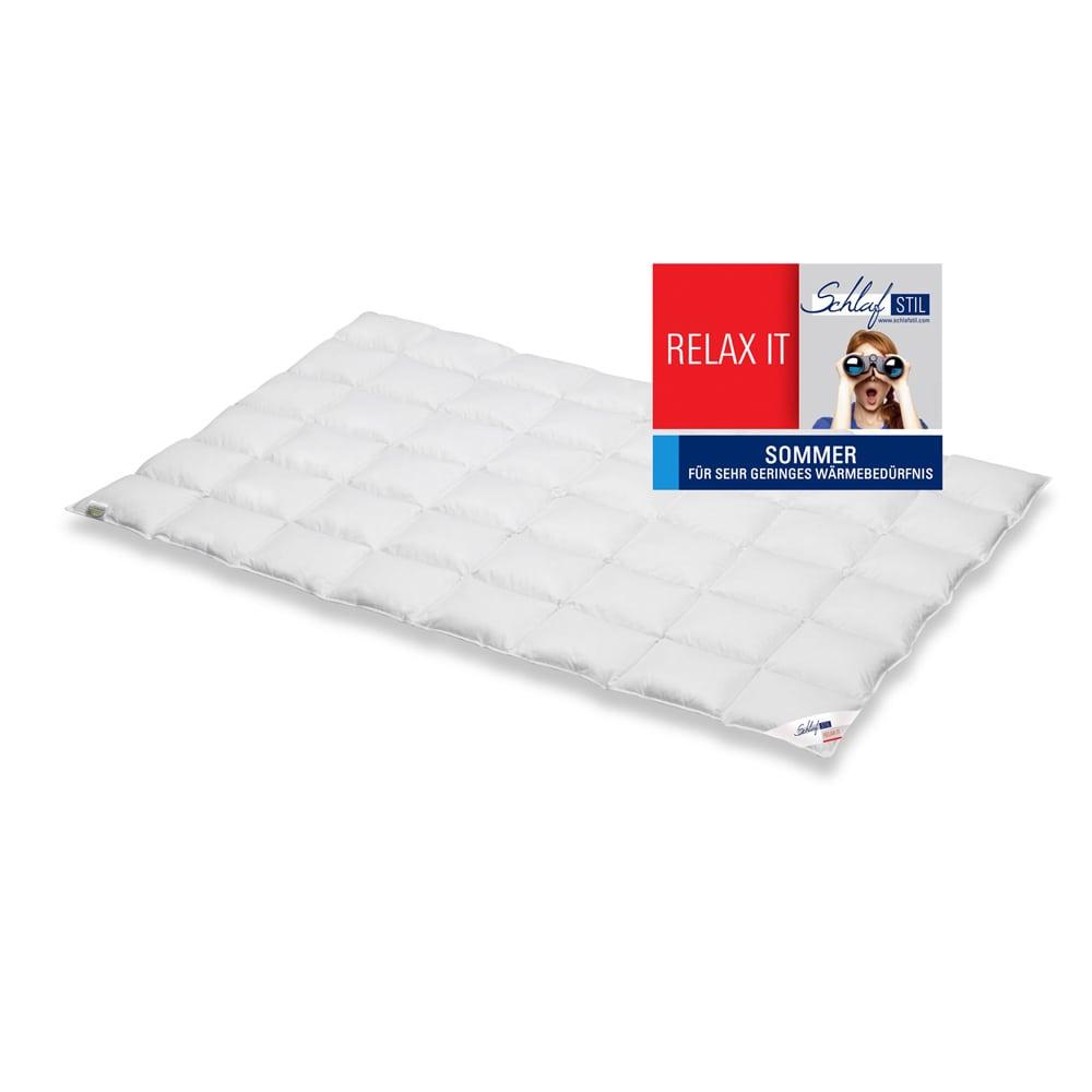 Schlafstil Sommer Bettdecke Relax It, 60% Daunen, 40% Federn