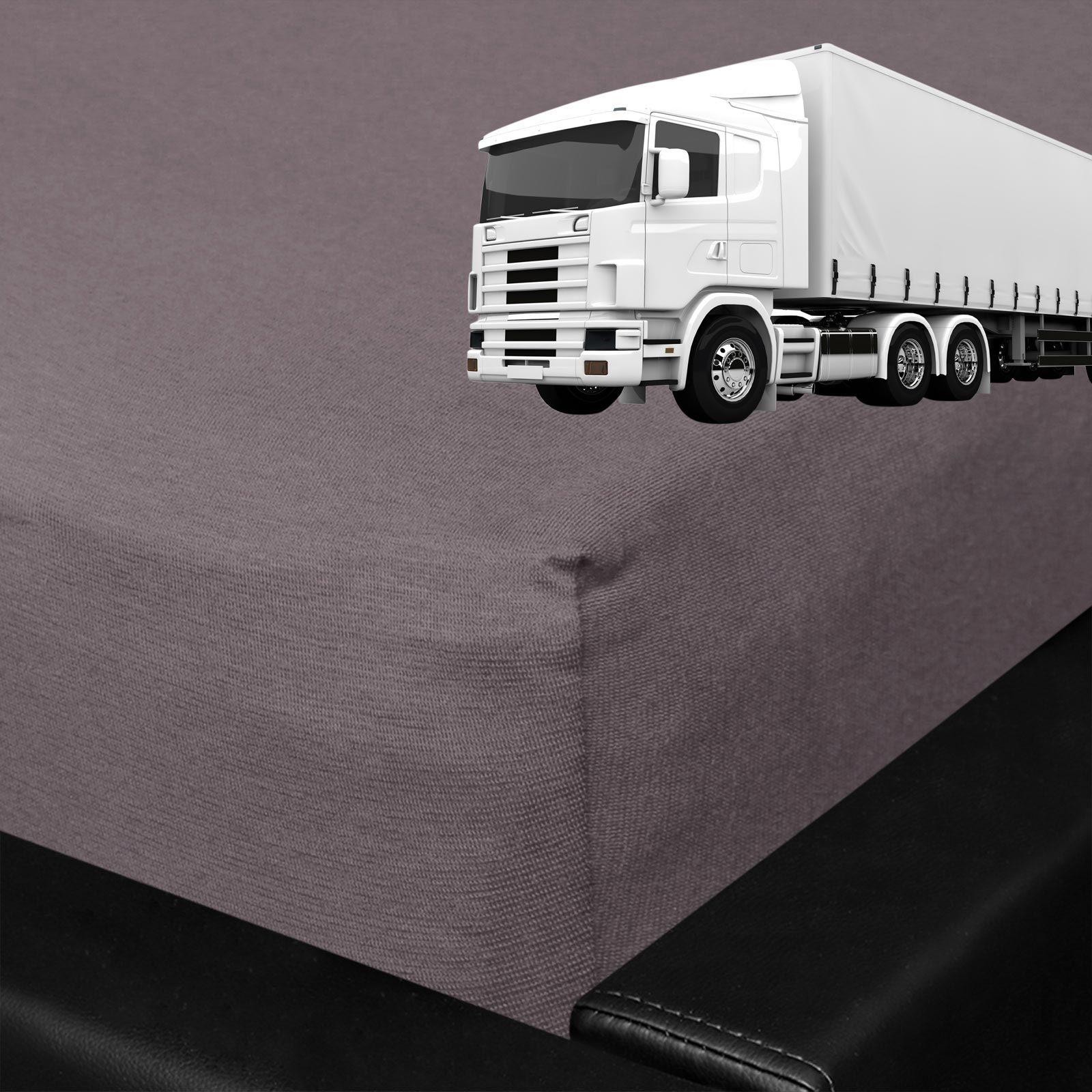 BettwarenShop Spannbettlaken für LKW Truck Matratzen