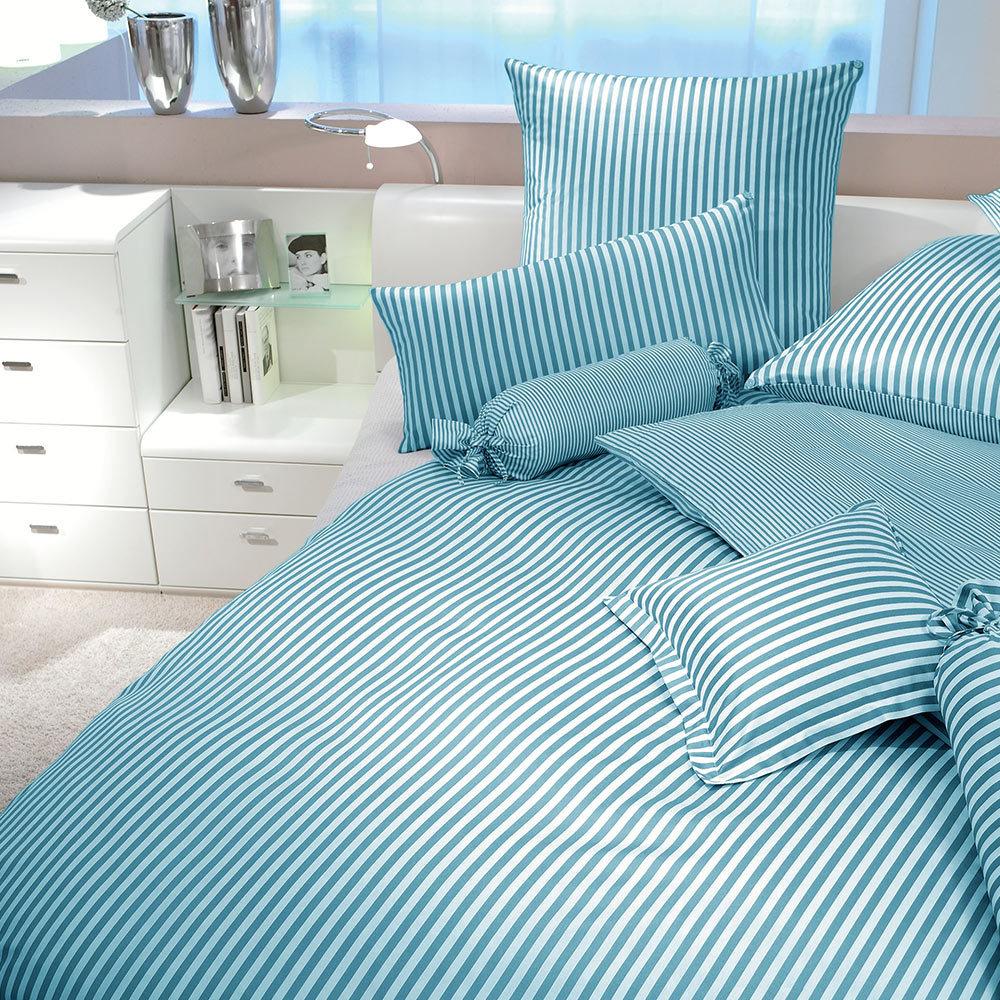 janine streifen bettw sche modern classic kobaltblau g nstig online kaufen bei bettwaren shop. Black Bedroom Furniture Sets. Home Design Ideas