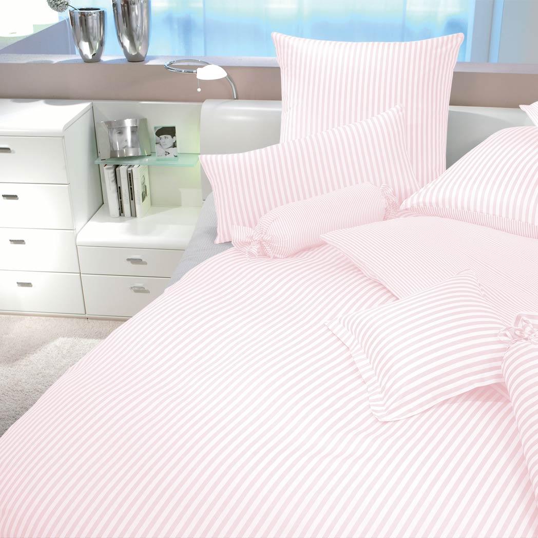 Janine Streifen Bettwäsche Modern Classic Rosa Günstig Online Kaufen