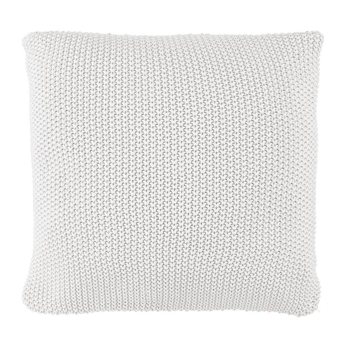 Marc O Polo Strick Dekokissen Plaid Nordic Knit off white