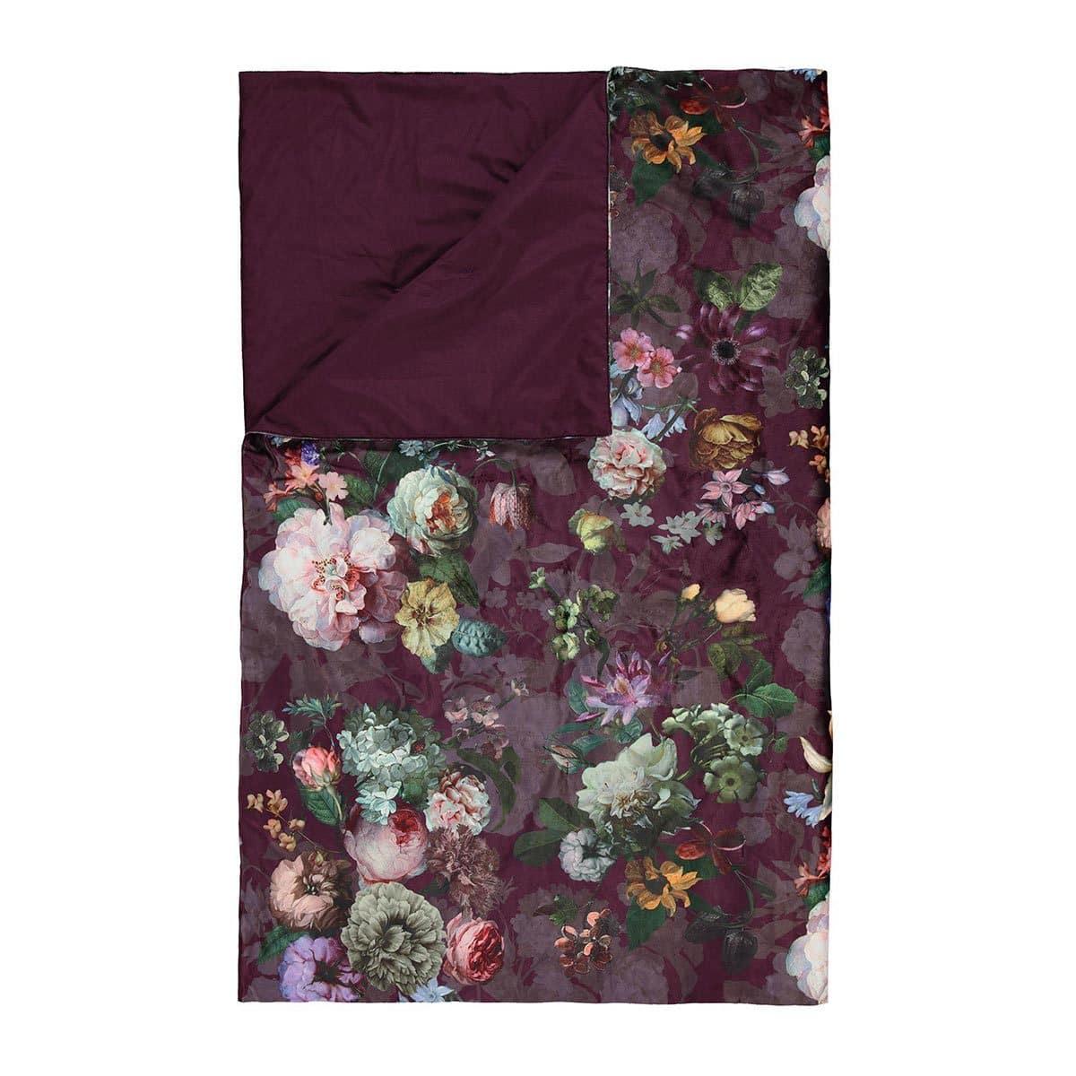 Essenza Tagesdecke Fleur burgundy