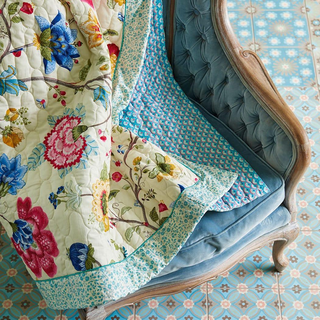 pip studio tagesdecke floral fantasy ecru g nstig online kaufen bei bettwaren shop. Black Bedroom Furniture Sets. Home Design Ideas