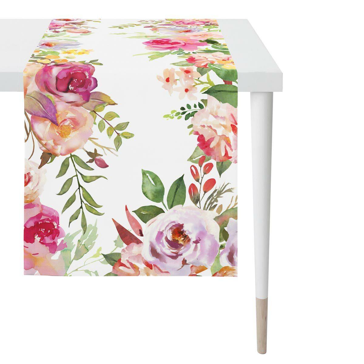 Apelt Tischläufer Sommerblumen bunt