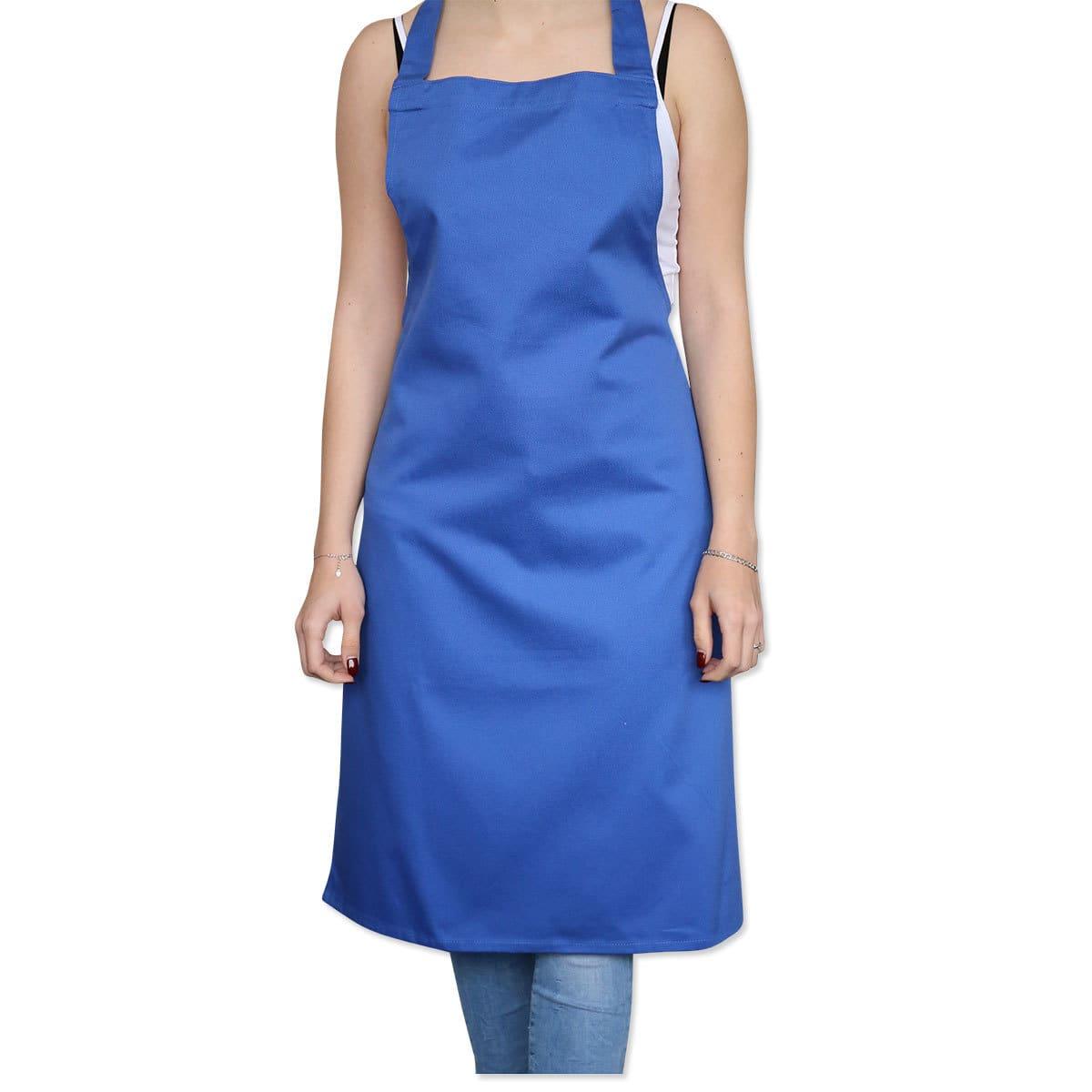 Ross Uni Baumwoll-Latzschürze Exclusiv blau