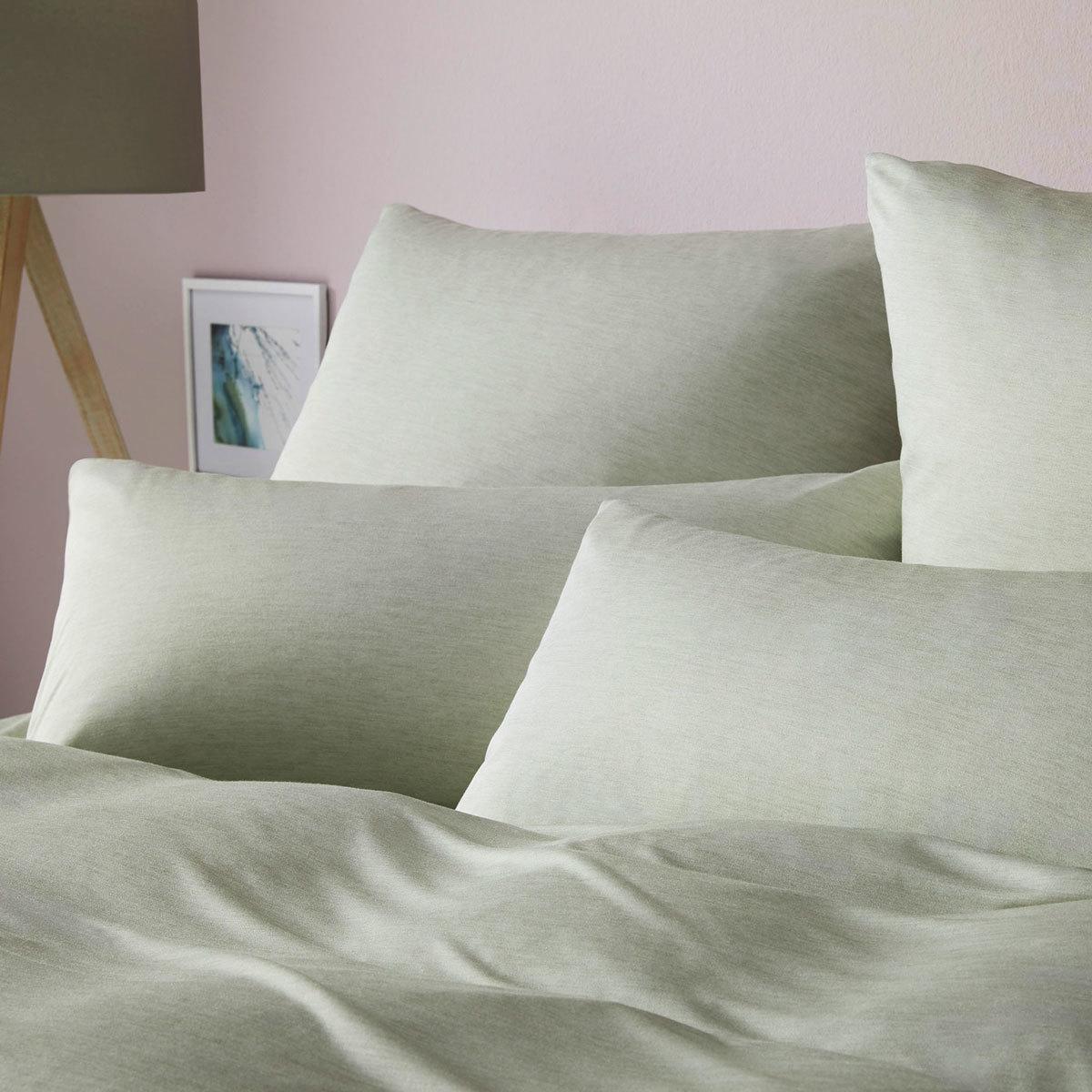Elegante Uni Jersey Bettwäsche Calm Pastellgrün Günstig Online