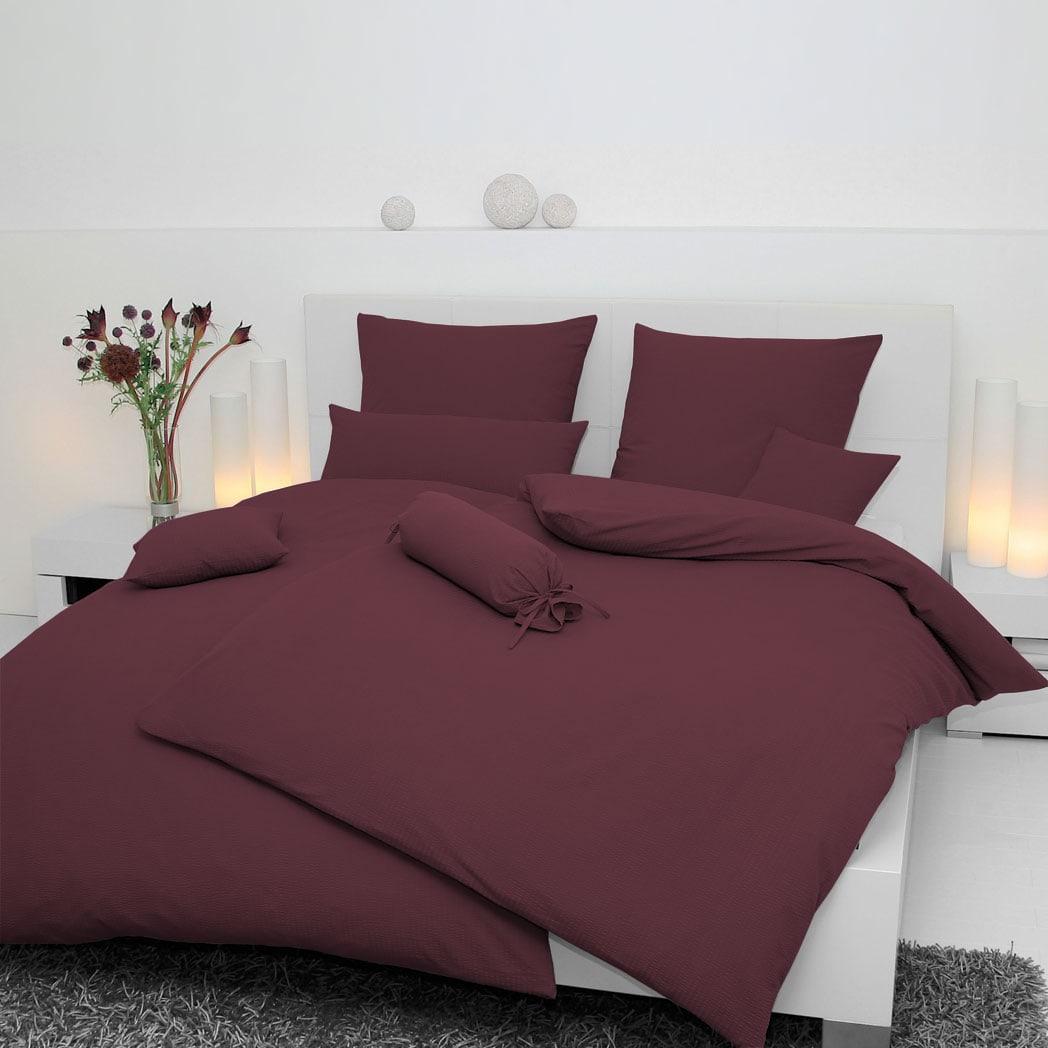 Janine Uni Jersey Bettwäsche Fuchsia 5007 55 Günstig Online Kaufen