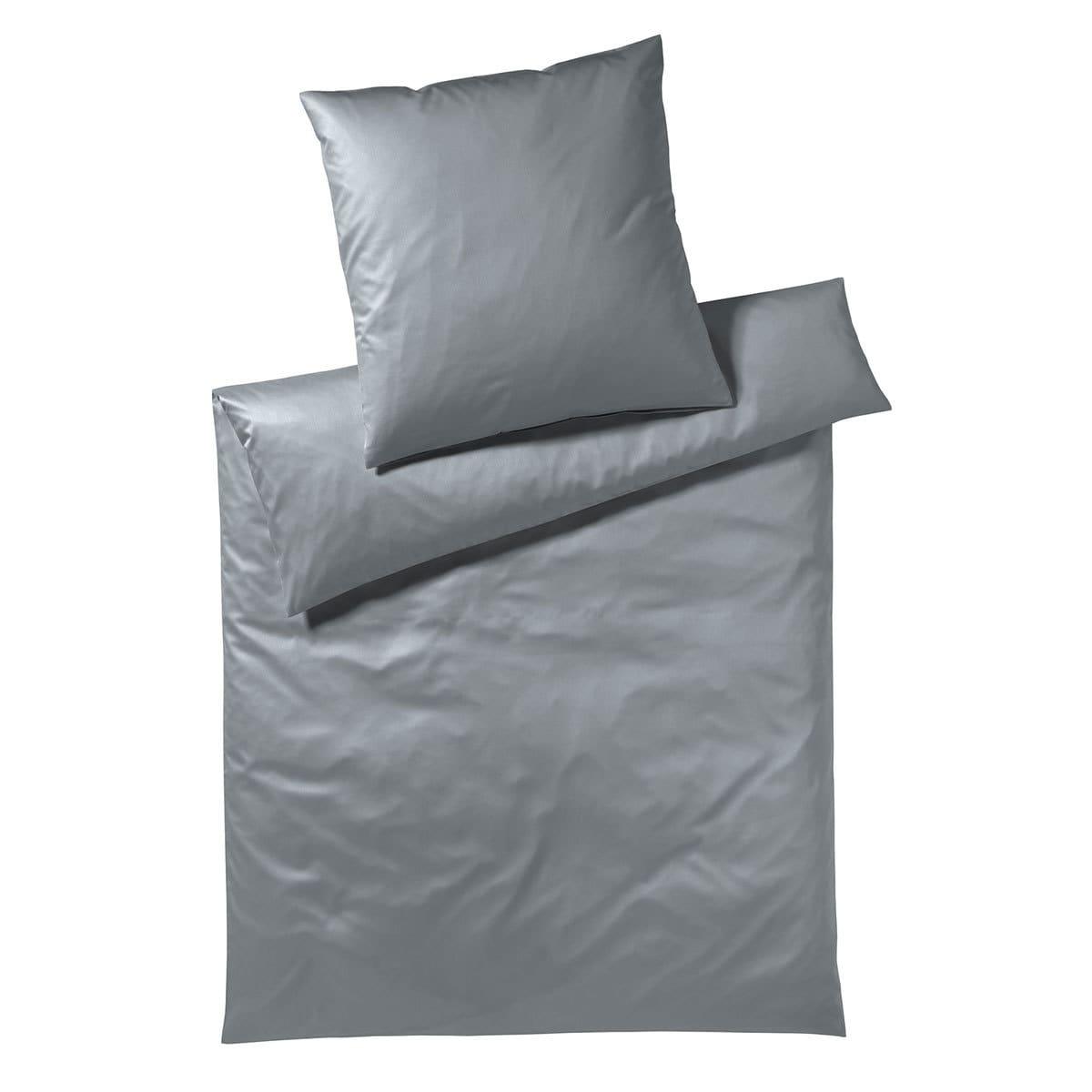 elegante Uni Jersey Bettwäsche Solid graphit