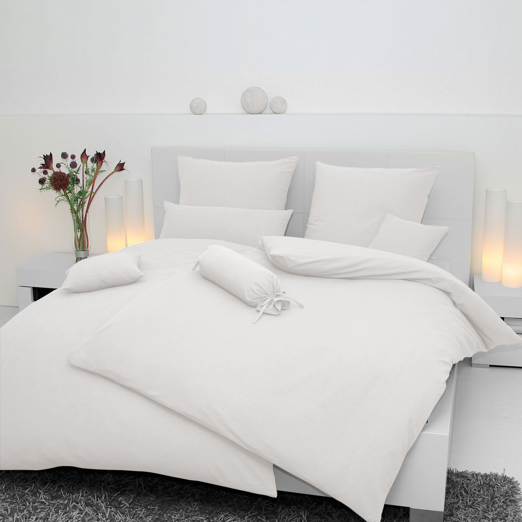 Janine Uni Jersey Bettwäsche Weiß 5007 10 Günstig Online Kaufen Bei