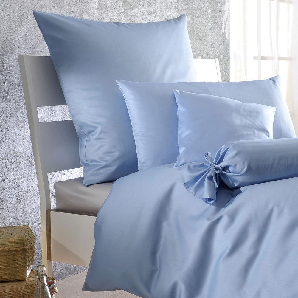 bettwarenshop uni kissenbezug mako satin g nstig online kaufen bei bettwaren shop. Black Bedroom Furniture Sets. Home Design Ideas
