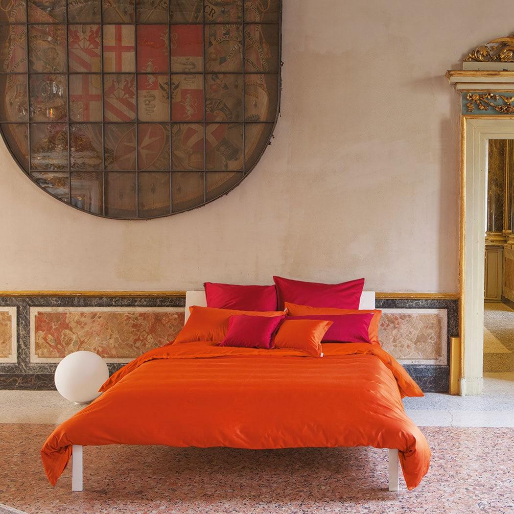 Bassetti Uni Mako Satin Bettwäsche Orange Günstig Online Kaufen Bei