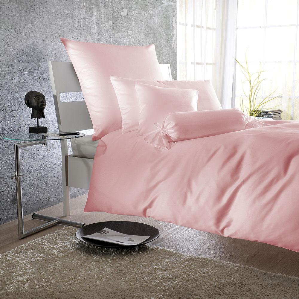 Bettwarenshop Uni Mako Satin Bettwäsche Rosa Günstig Online Kaufen