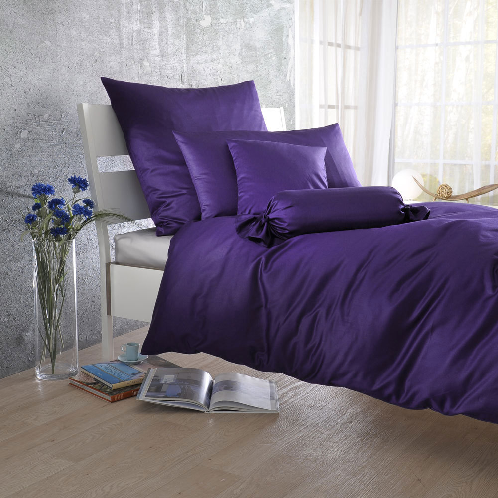 bettwarenshop uni mako satin bettw sche violetta g nstig. Black Bedroom Furniture Sets. Home Design Ideas