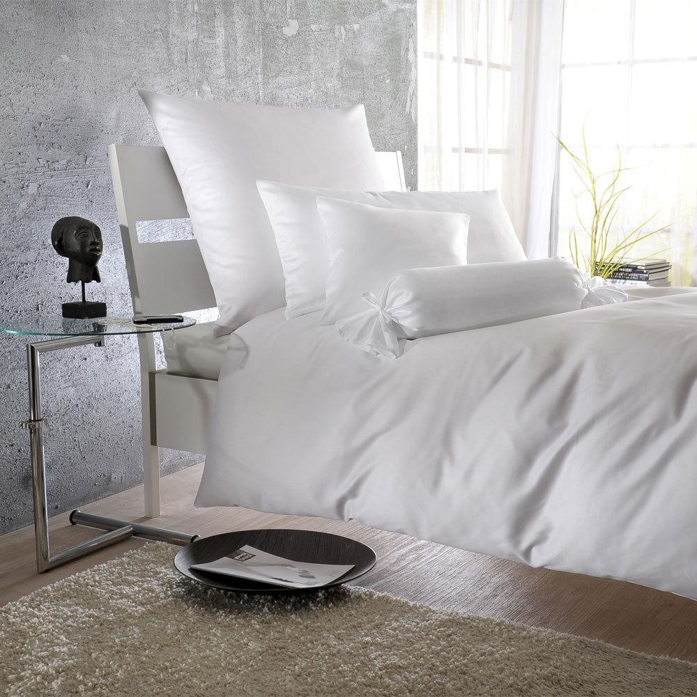 Bettwarenshop Uni Mako Satin Bettwäsche Weiß Günstig Online Kaufen