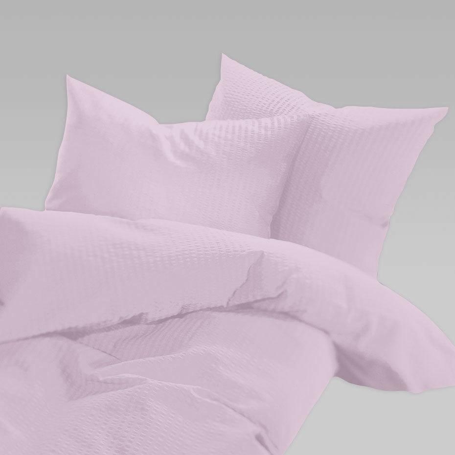 Schlafgut Uni Seersucker Bettwäsche Bügelfrei Magnolie Günstig