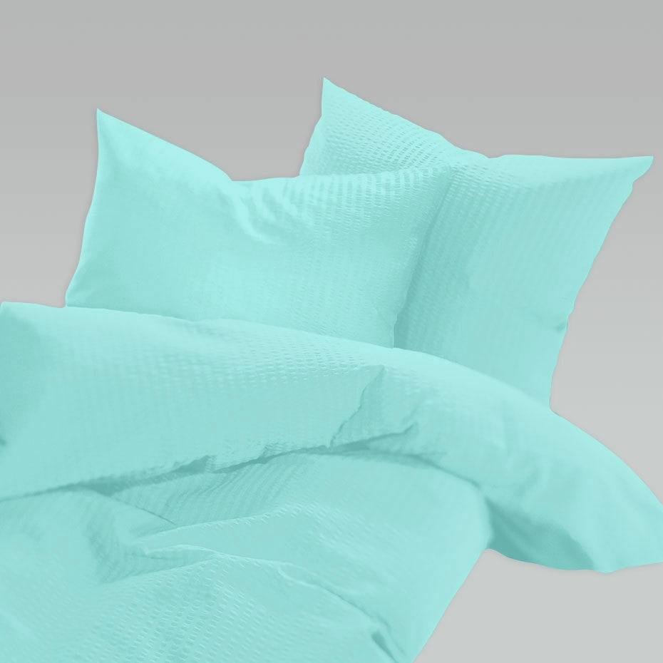 schlafgut uni seersucker bettw sche b gelfrei minze. Black Bedroom Furniture Sets. Home Design Ideas