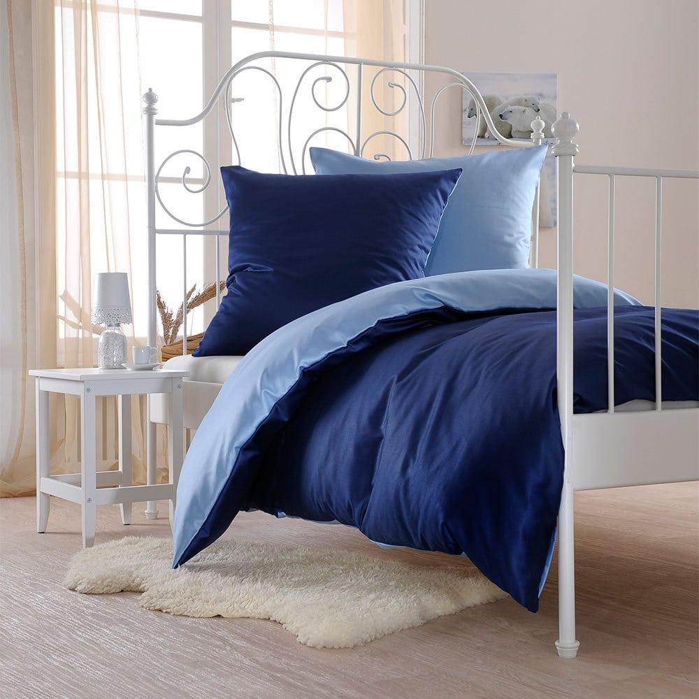 bettwarenshop uni wendebettw sche navy taube g nstig online kaufen bei bettwaren shop. Black Bedroom Furniture Sets. Home Design Ideas
