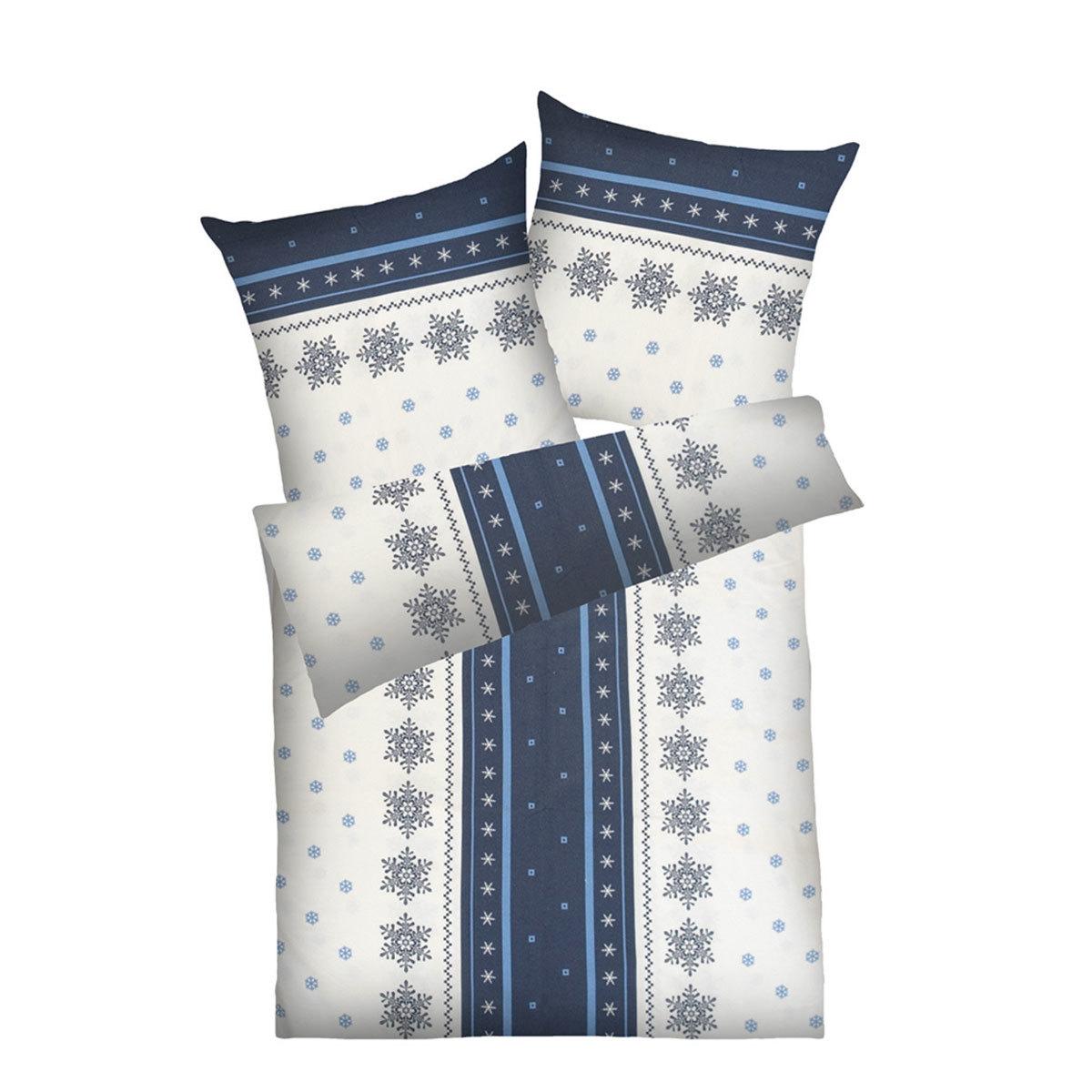 dyckhoff weichfrottier bettw sche schneeflocke grau blau g nstig online kaufen bei bettwaren shop. Black Bedroom Furniture Sets. Home Design Ideas