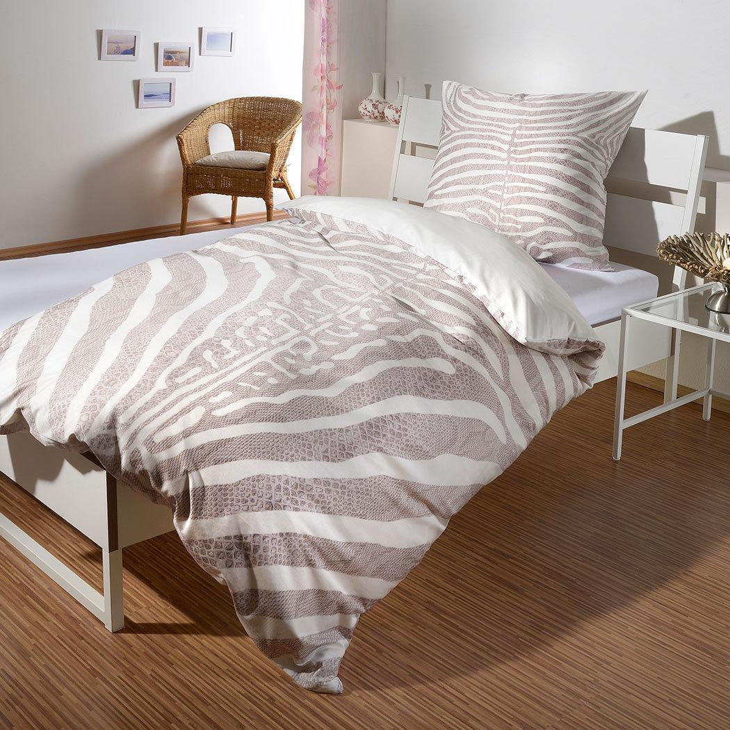 bettwarenshop wendebettw sche safari zebra g nstig online. Black Bedroom Furniture Sets. Home Design Ideas