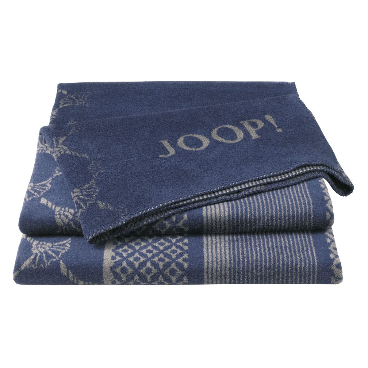 JOOP Wohndecke Cornflower Stripes Marino-Schiefer