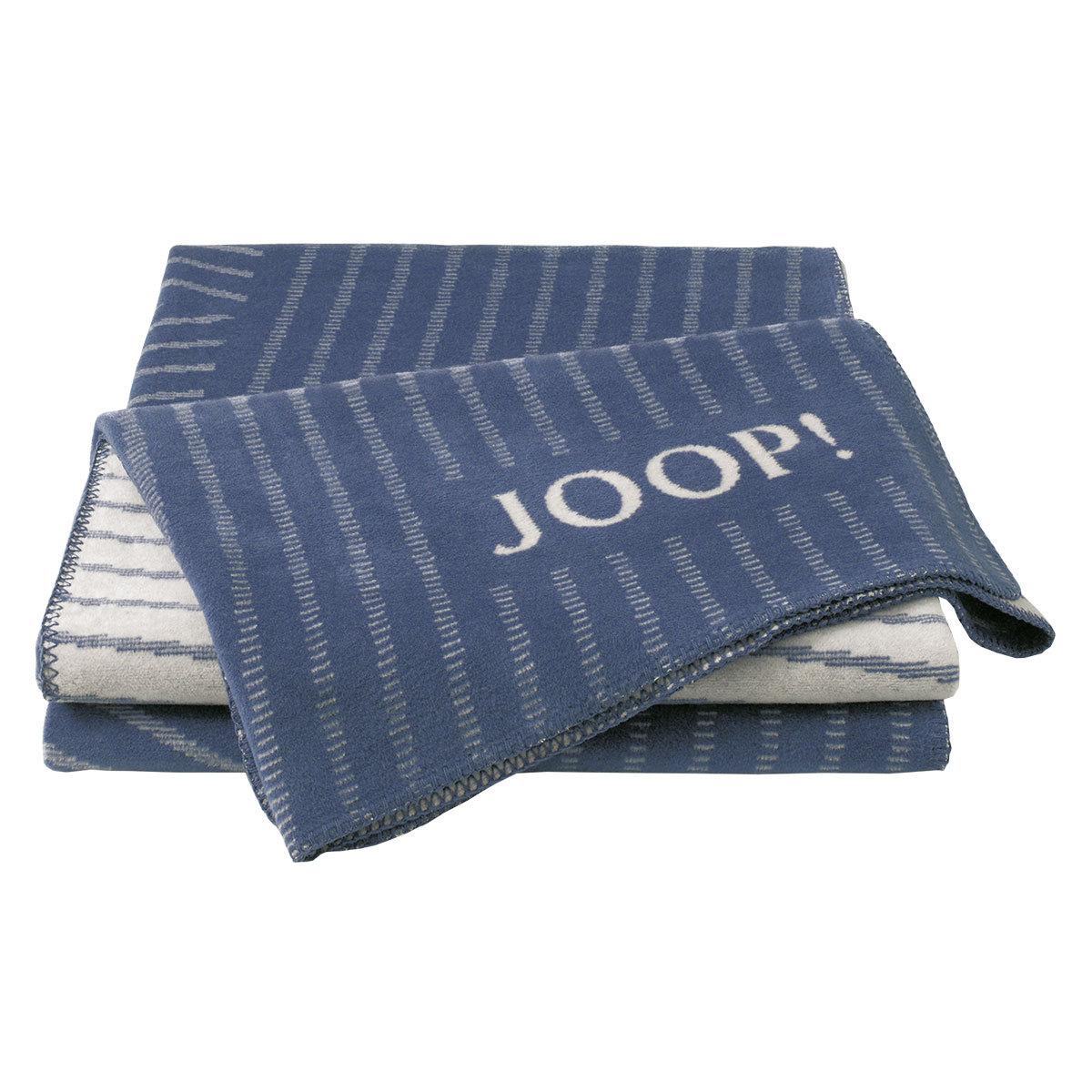 JOOP Wohndecke Cross Stripes Jeans-Rauch