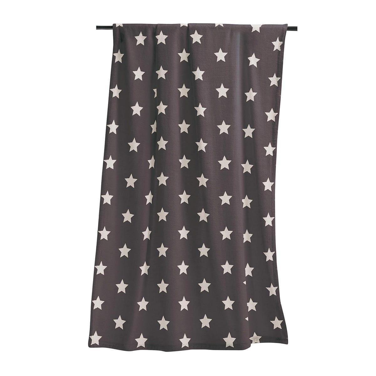 Irisette Wohndecke Sterne anthrazit