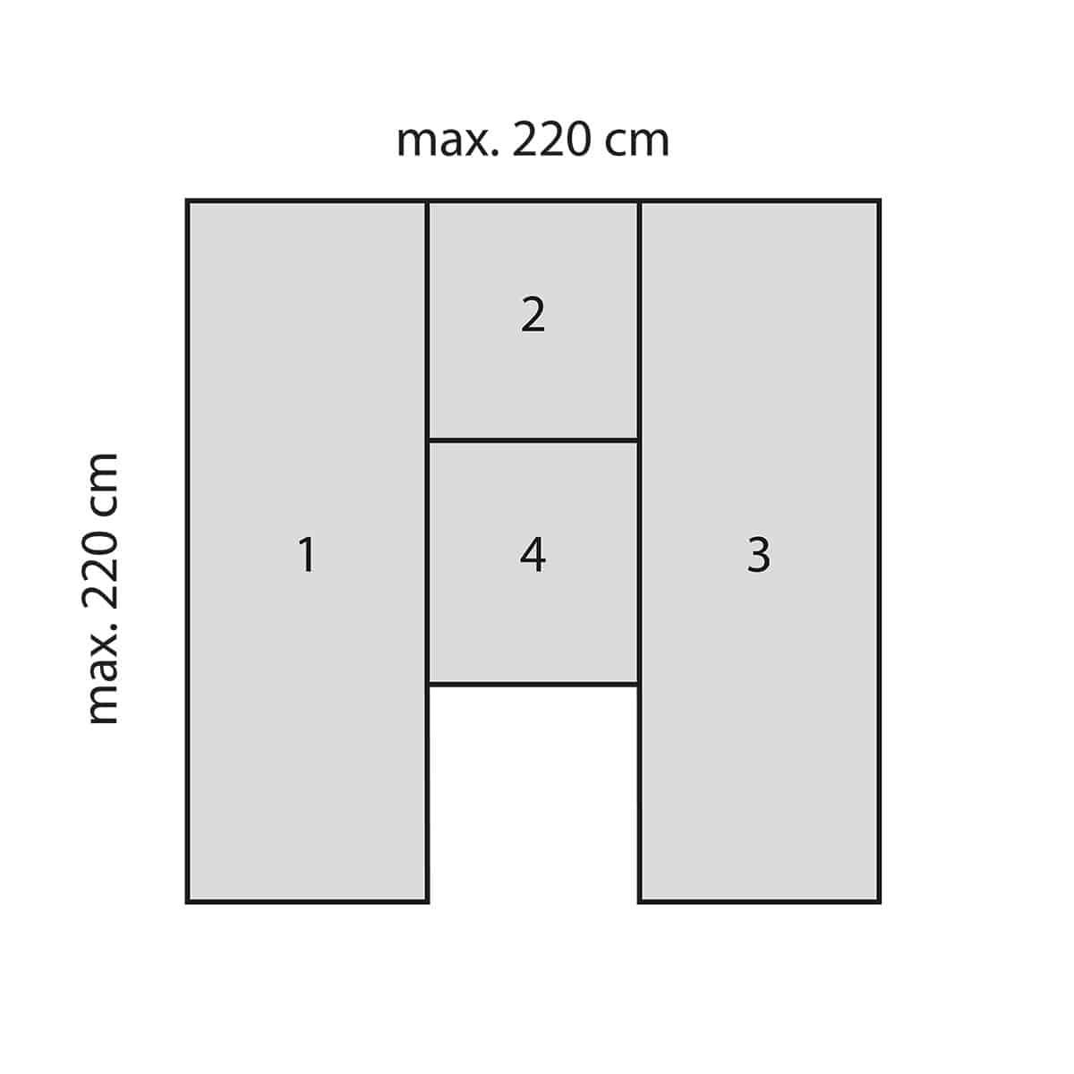 Bettwarenshop Wohnmobil Wohnwagen Spannbettlaken Set 4 Teilig Nach