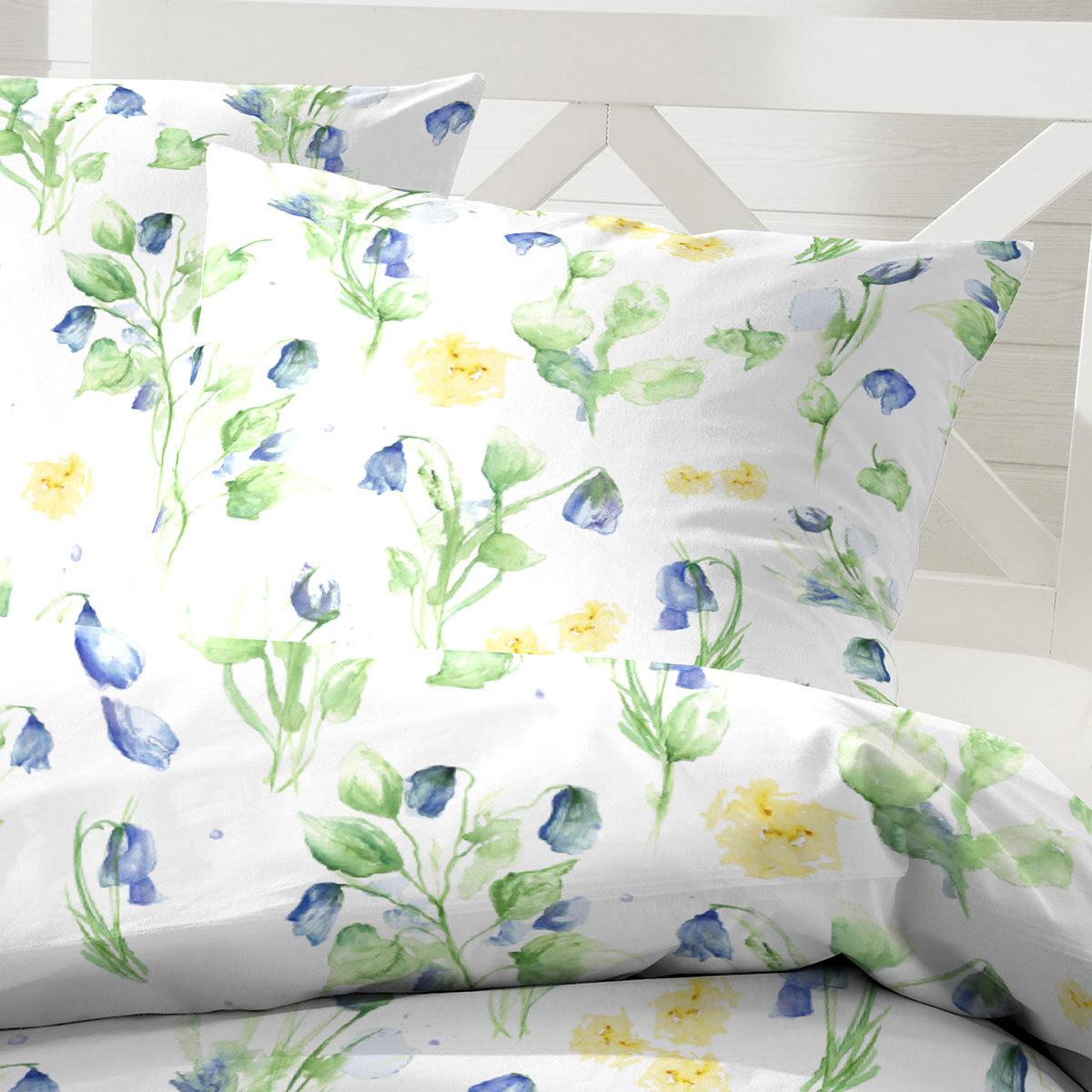 hahn bettw sche blumen gr n g nstig online kaufen bei bettwaren shop. Black Bedroom Furniture Sets. Home Design Ideas