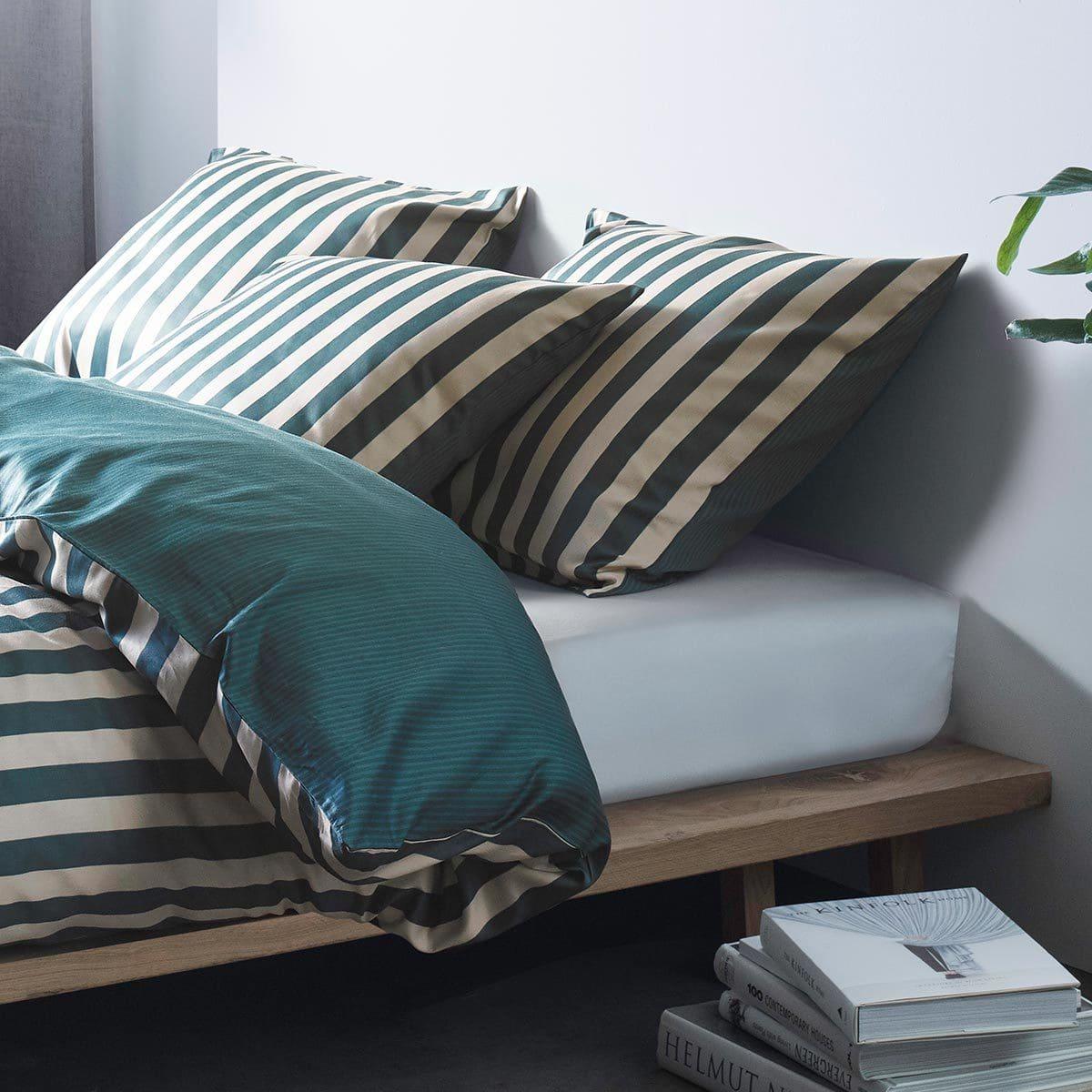 Marc O Polo Bettwäsche Classic Stripe Pine Green Günstig Online