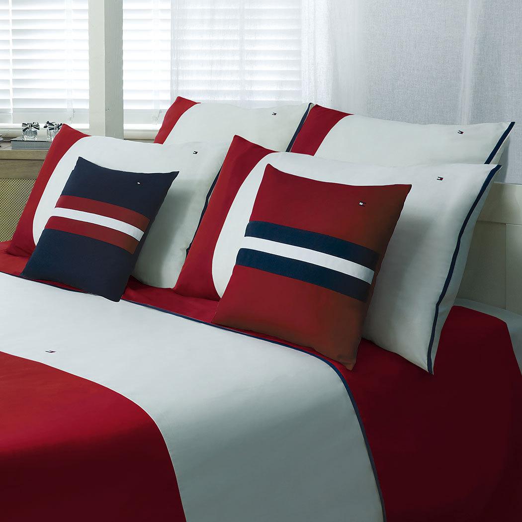 tommy hilfiger bettw sche colour block red g nstig online kaufen bei bettwaren shop. Black Bedroom Furniture Sets. Home Design Ideas