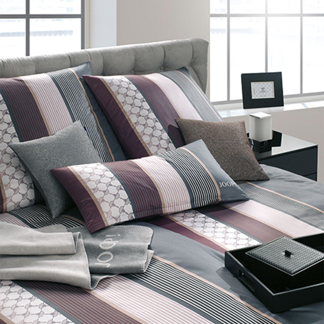 joop bettw sche cornflower stripe deep wine g nstig online kaufen bei bettwaren shop. Black Bedroom Furniture Sets. Home Design Ideas