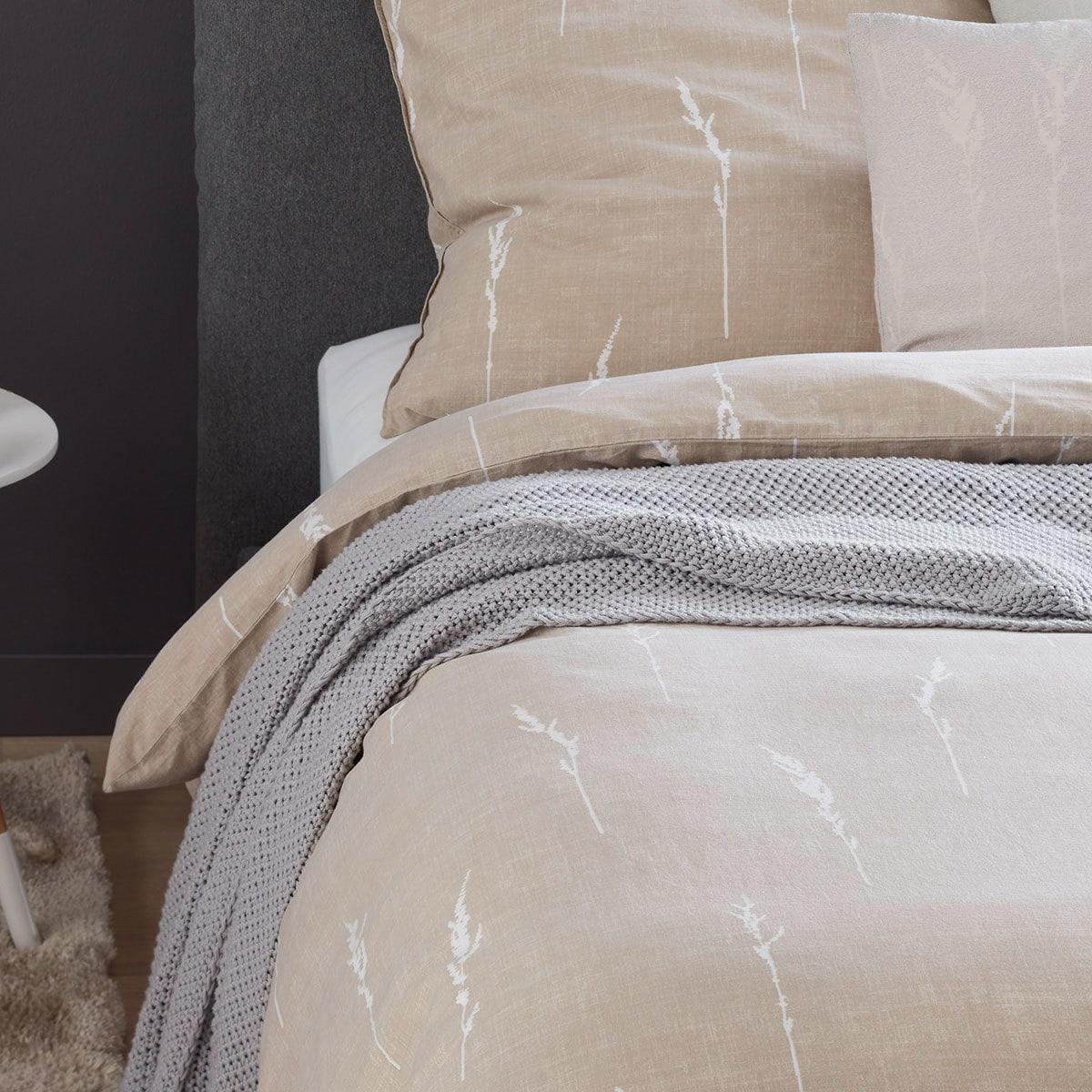 sch ner wohnen bettw sche gras b beige g nstig online. Black Bedroom Furniture Sets. Home Design Ideas