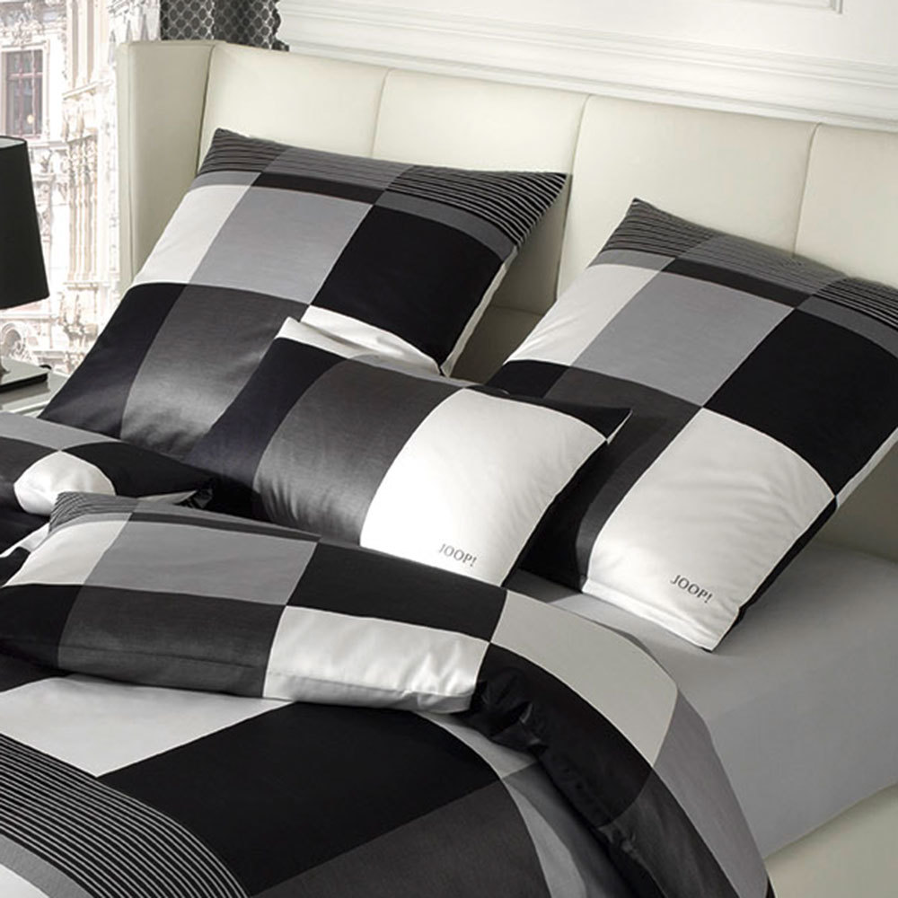 joop bettw sche plaza squares black g nstig online kaufen bei bettwaren shop. Black Bedroom Furniture Sets. Home Design Ideas