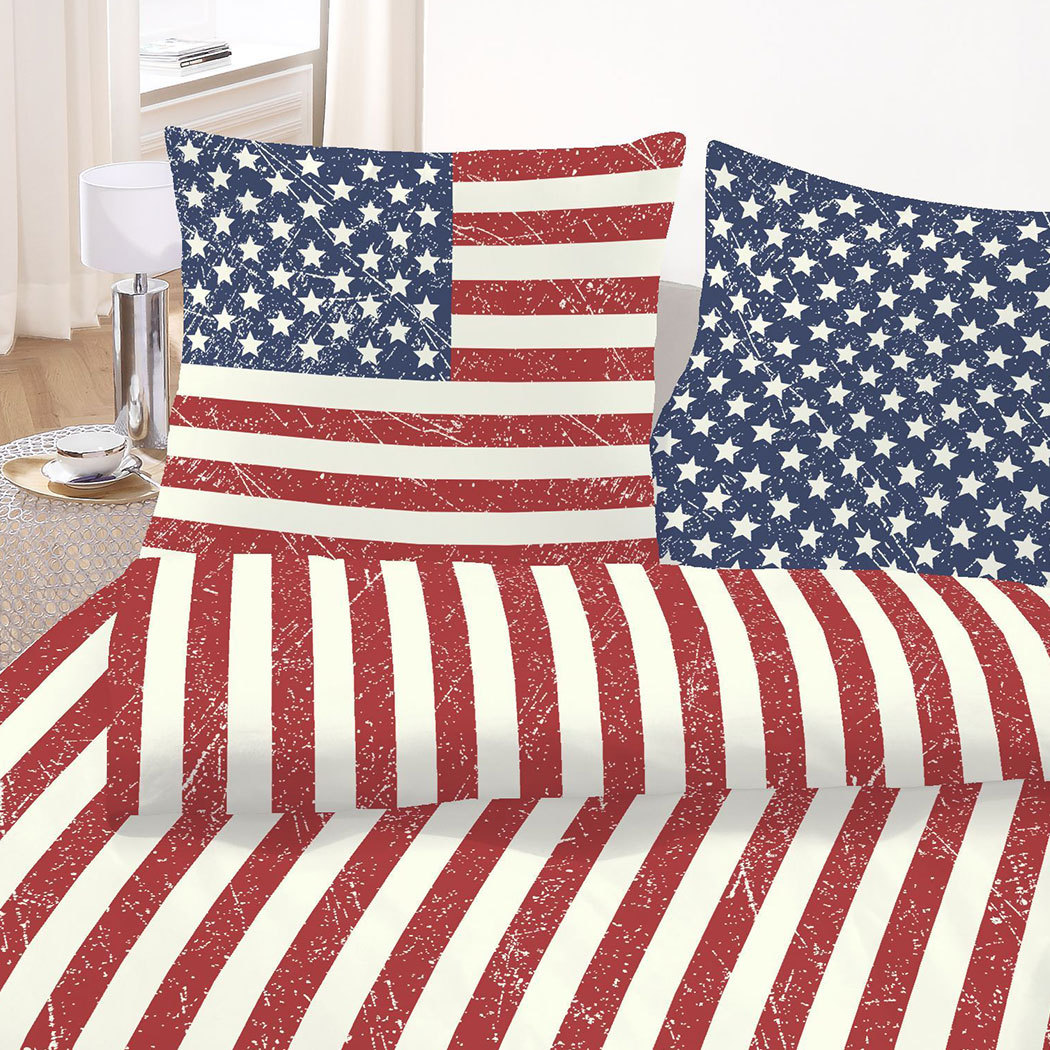 bettwarenshop biber bettw sche amerika flagge g nstig online kaufen bei bettwaren shop. Black Bedroom Furniture Sets. Home Design Ideas