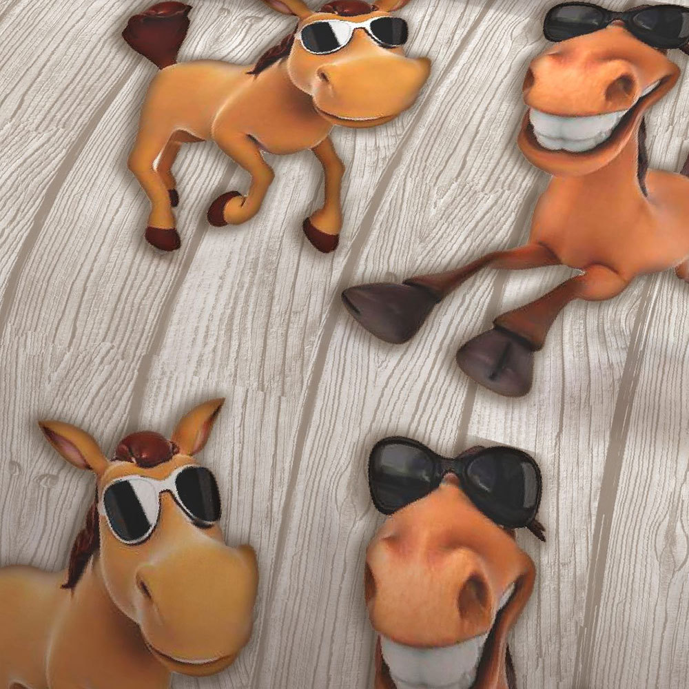 bettwarenshop biber bettw sche coole pferde g nstig online kaufen bei bettwaren shop. Black Bedroom Furniture Sets. Home Design Ideas