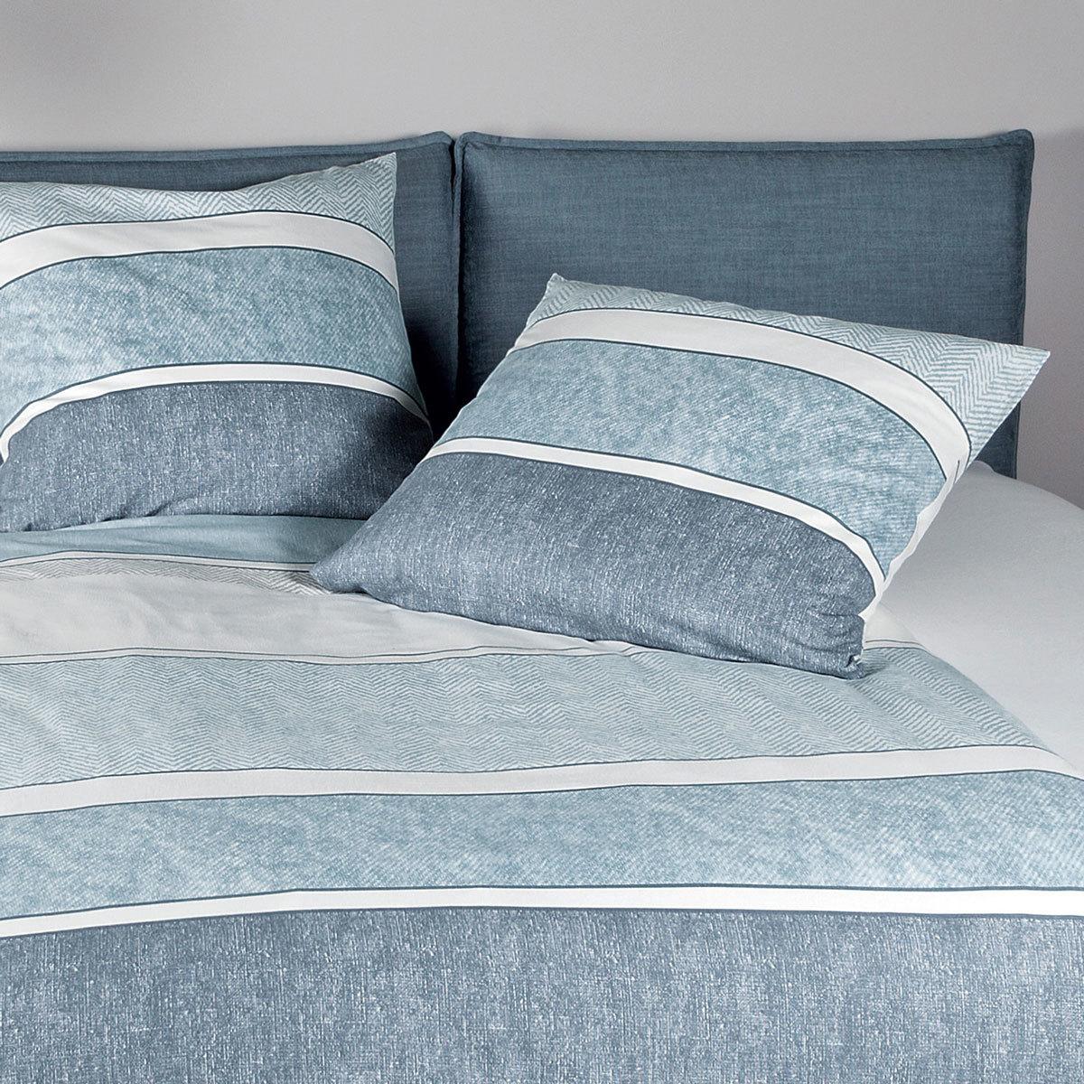 janine biber bettw sche davos 65047 02 blau g nstig online. Black Bedroom Furniture Sets. Home Design Ideas