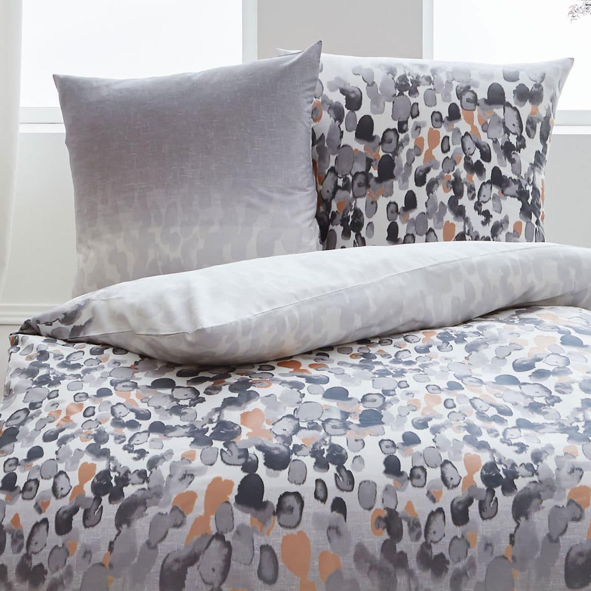 kaeppel biber bettw sche daytona grau g nstig online kaufen bei bettwaren shop. Black Bedroom Furniture Sets. Home Design Ideas