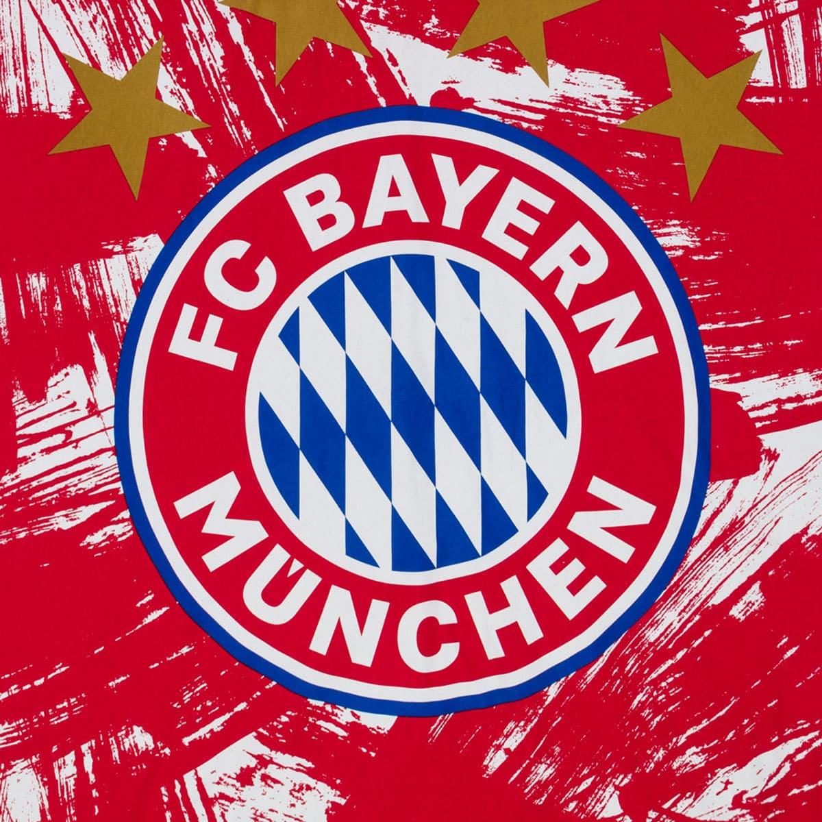 Fc Bayern München Biber Bettwäsche Emblem Rotweiss Günstig Online