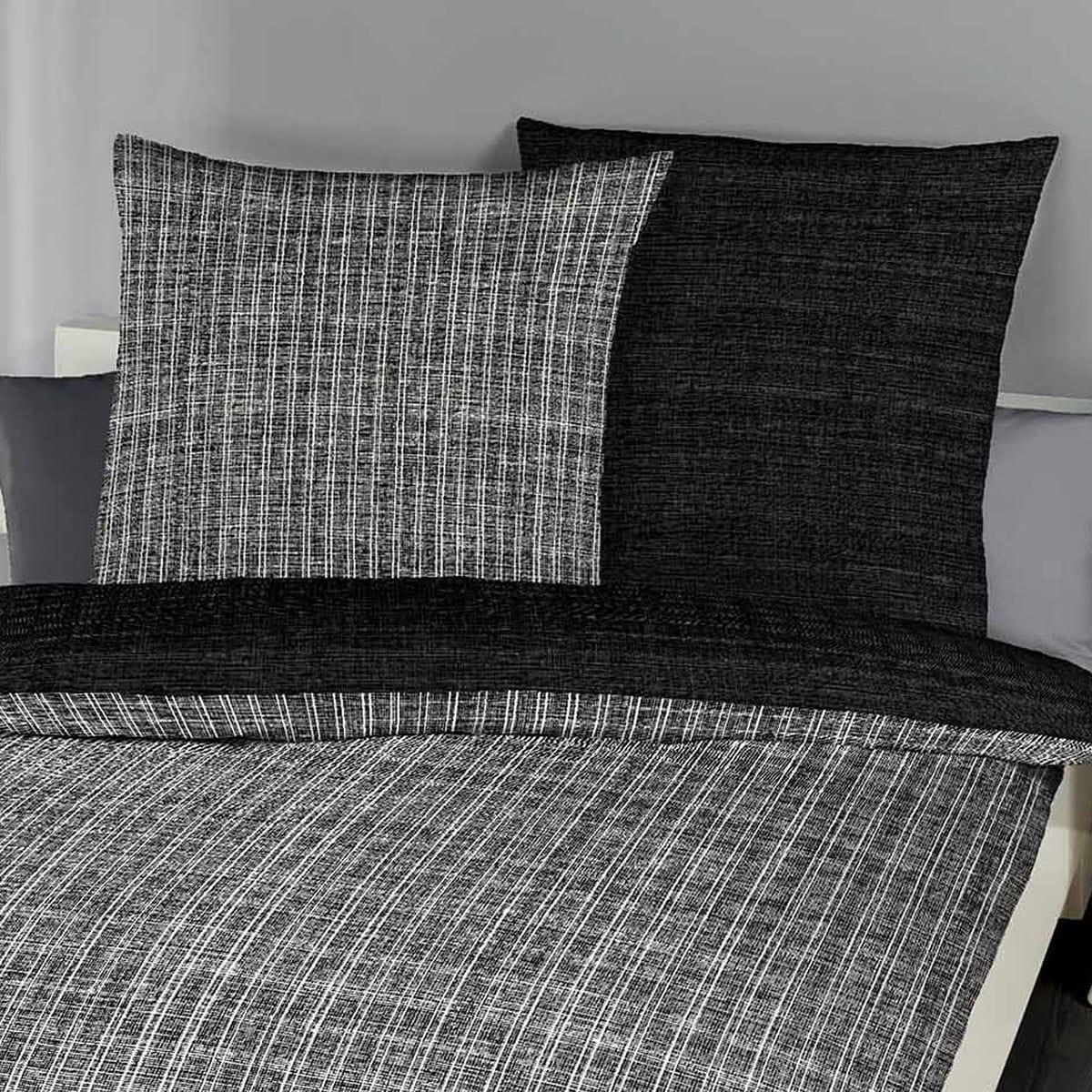 bettwarenshop biber bettw sche eternity combo schwarz g nstig online kaufen bei bettwaren shop. Black Bedroom Furniture Sets. Home Design Ideas