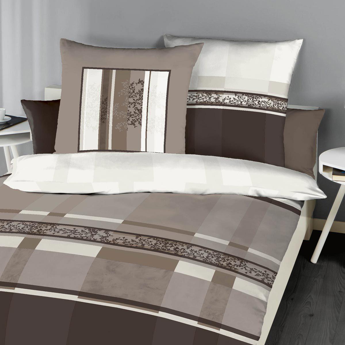kaeppel biber bettw sche etienne braun g nstig online kaufen bei bettwaren shop. Black Bedroom Furniture Sets. Home Design Ideas