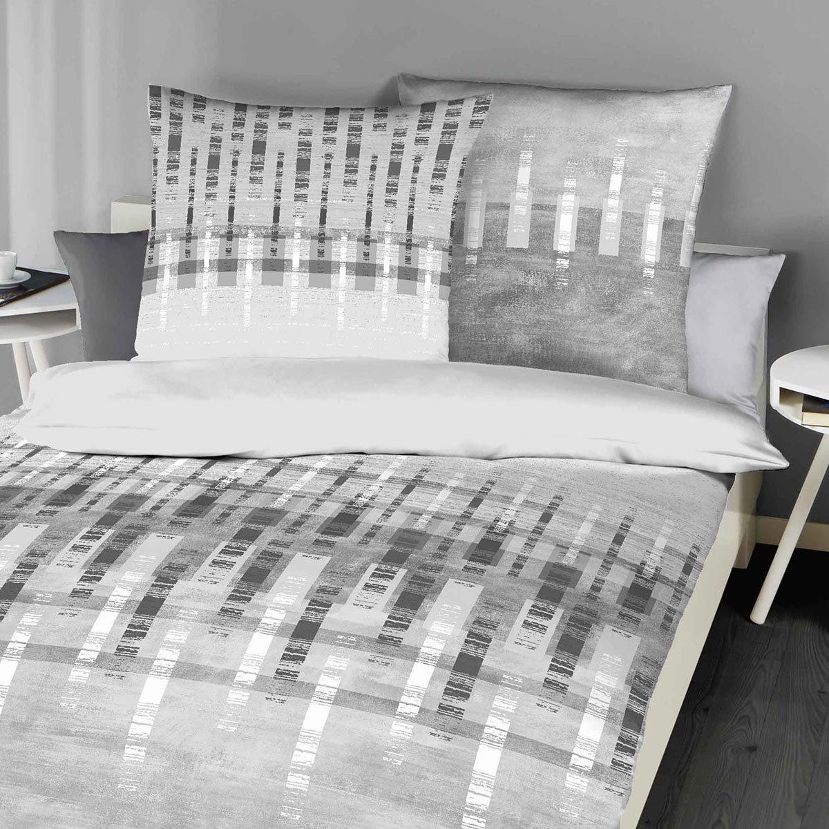 kaeppel biber bettw sche relate grau g nstig online kaufen bei bettwaren shop. Black Bedroom Furniture Sets. Home Design Ideas