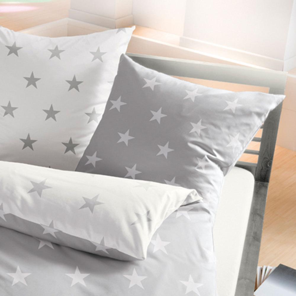 bettwarenshop biber bettw sche stars schiefer g nstig online kaufen bei bettwaren shop. Black Bedroom Furniture Sets. Home Design Ideas
