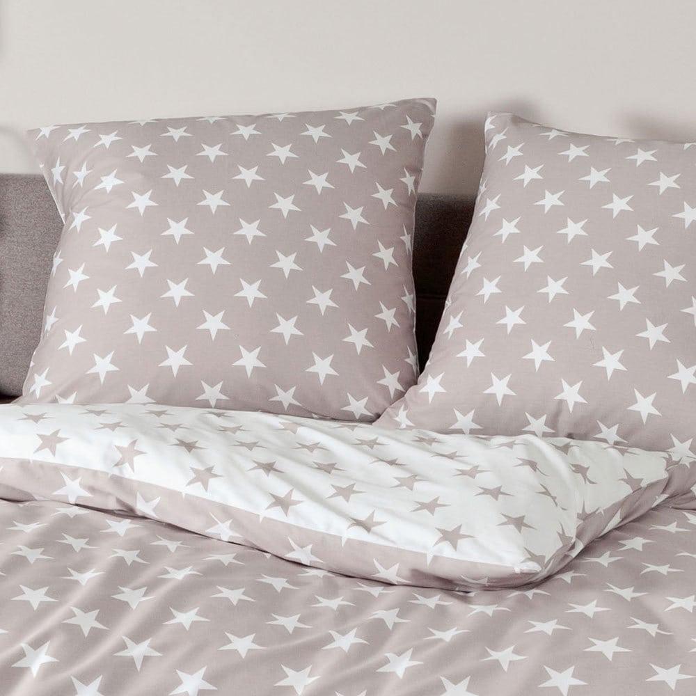 janine biber bettw sche sterne taupe g nstig online kaufen bei bettwaren shop. Black Bedroom Furniture Sets. Home Design Ideas
